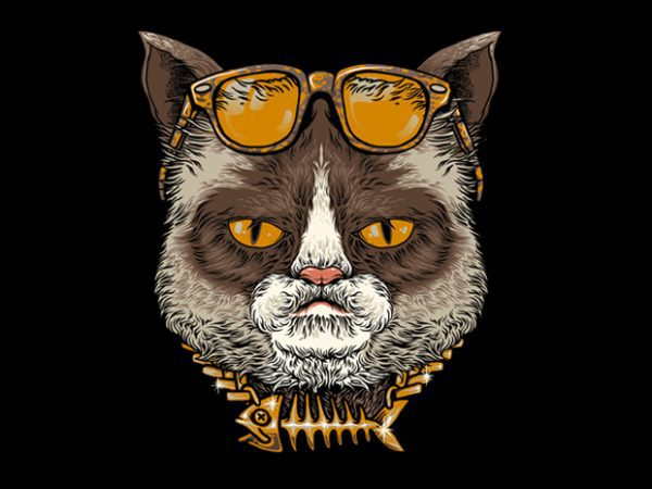 Cool Cat Tshirt Design