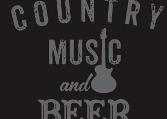 Country Music And Beer T-Shirt Design