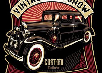 Vintage road show t shirt vector art
