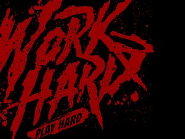 Work hard play hard vector shirt design