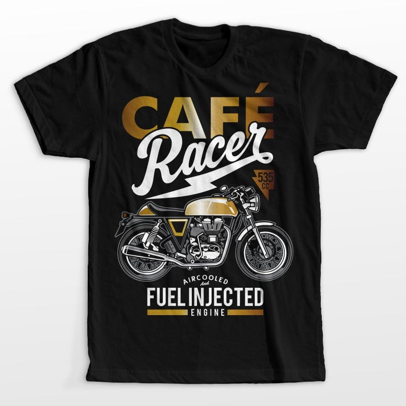 Cafe racer commercial use t shirt designs