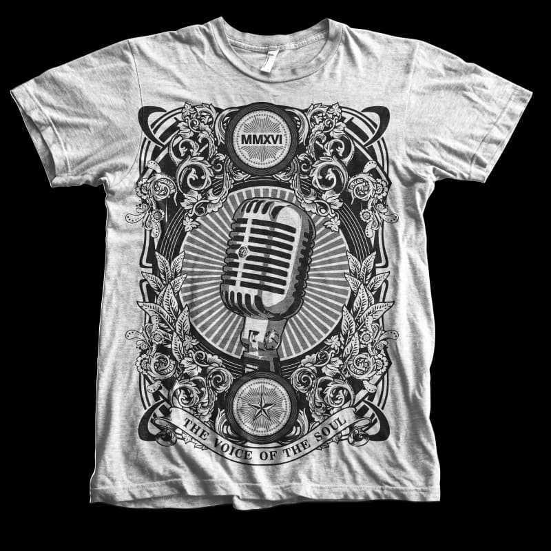 The voice of the soul t shirt designs for print on demand