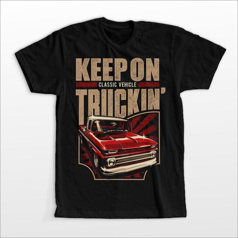 Truckin' t shirt designs for print on demand