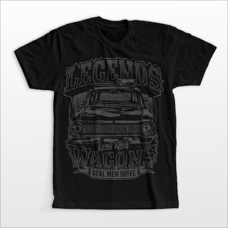 Legend wagon t shirt designs for merch teespring and printful