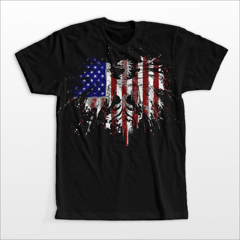 America eagle t shirt designs for print on demand