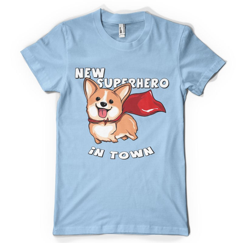 New superhero in town t shirt designs for print on demand