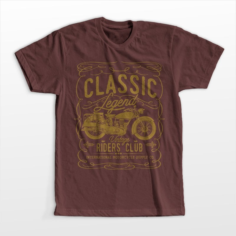 Classic Legend tshirt design for merch by amazon