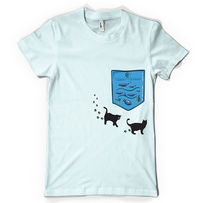 Aquarium pocket tshirt design for sale, shirt design bundle graphic