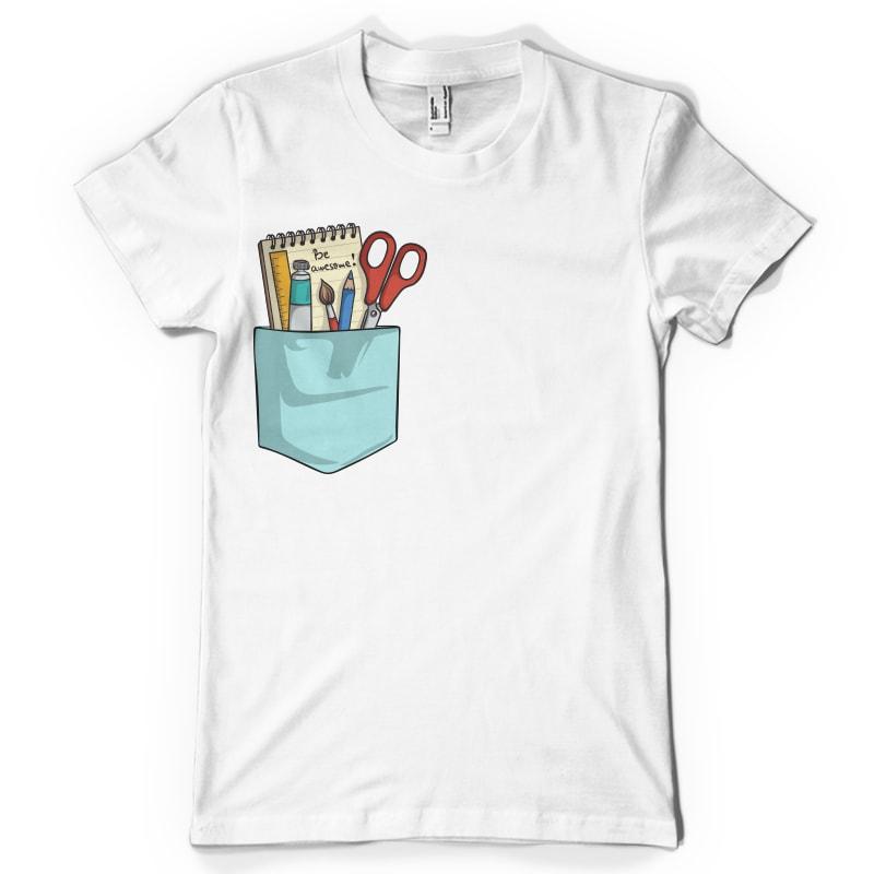 Be awesome pocket tshirt design bundle for sale