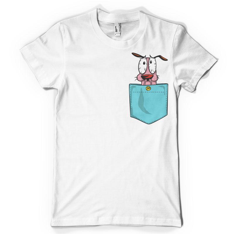 Courage dog pocket vector t shirt design bundle