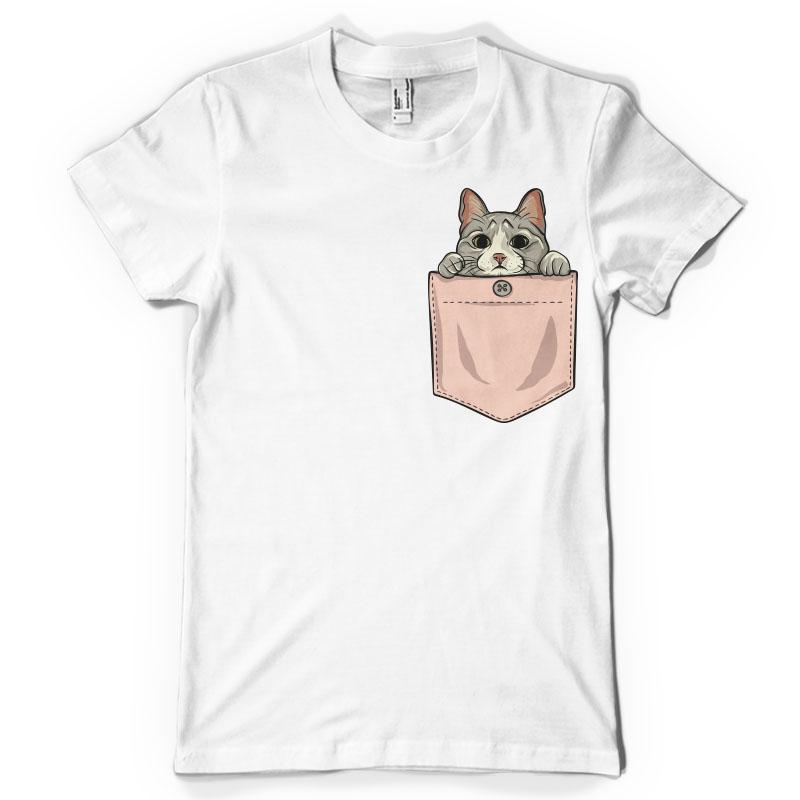 Cute cat pocket ultimate pockets bundle vector t shirt design
