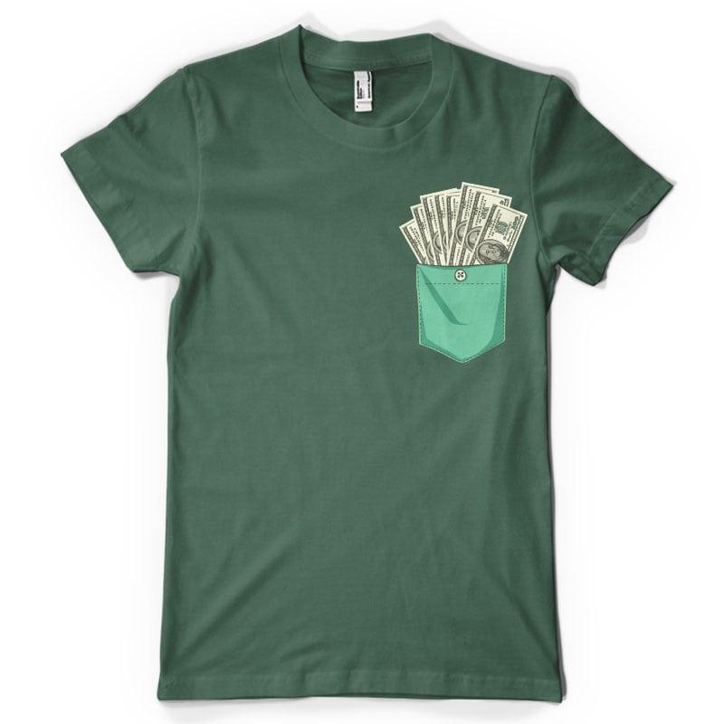 Dollar pocket vector t shirt design