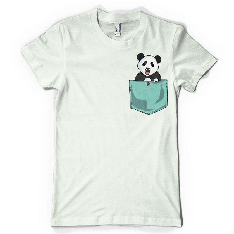 Panda pocket t shirt designs for sale bundle
