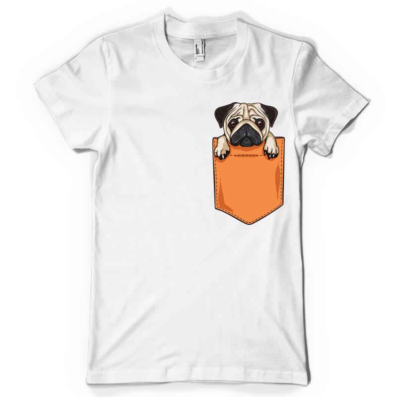 Pug pocket t-shirt design