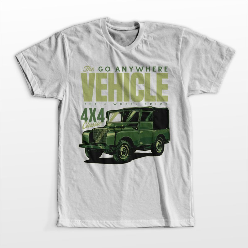 The go any where vehicle tshirt design for merch by amazon