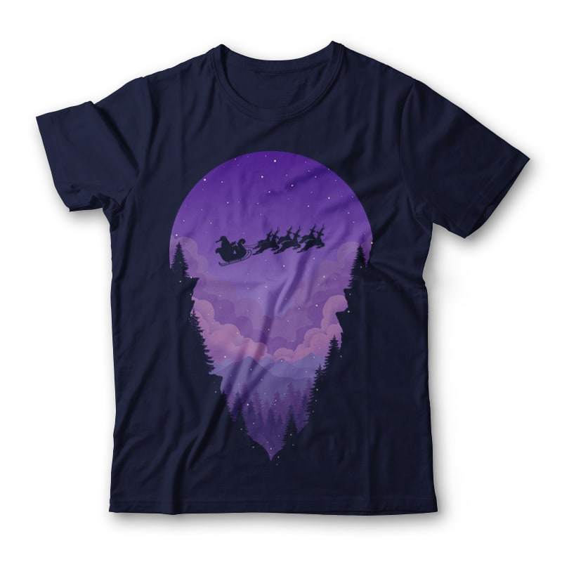 Purple Winter T-shirt Design tshirt designs for merch by amazon