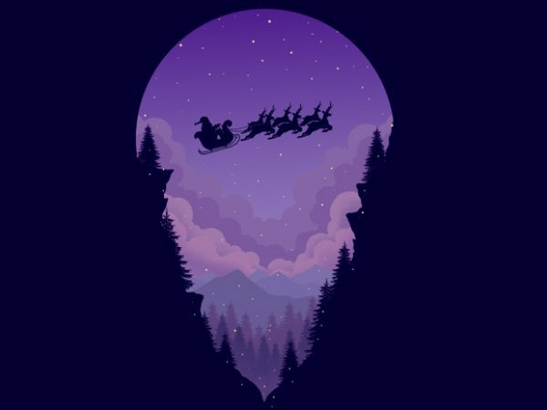 Purple Winter T-shirt Design