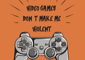 Violent games tshirt design for sale