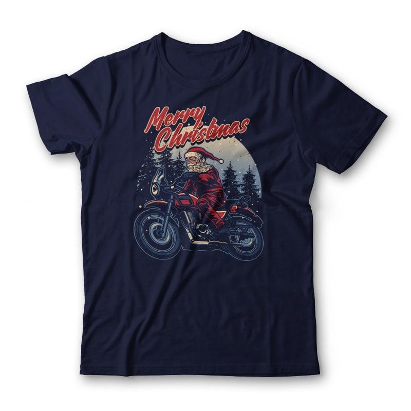 Santa Rider T-shirt Design buy t shirt design