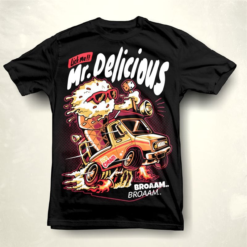 Mr Delicious commercial use t shirt designs