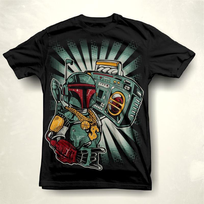 GhettoBobaster t shirt designs for print on demand