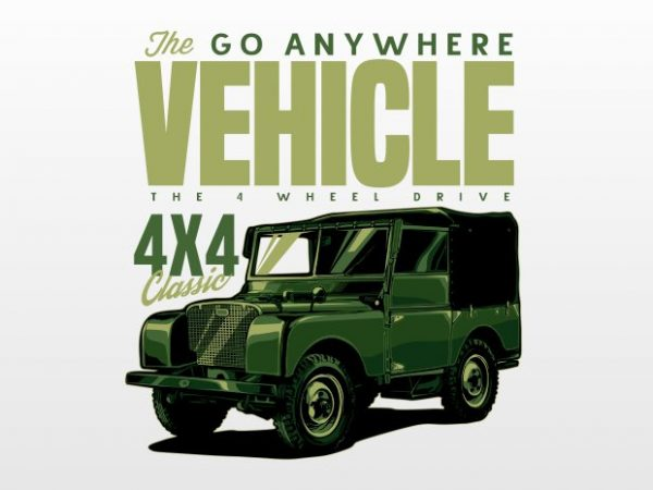 The go any where vehicle t shirt design png
