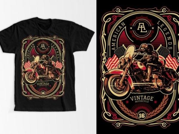 American Legend vector t-shirt design template