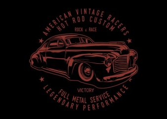 Hot rod custom t shirt design for sale