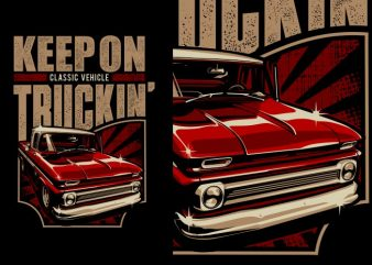 Truckin' vector shirt design