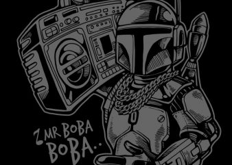 Mr Boba Boba t shirt designs for sale