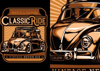 Classic Ride design for t shirt