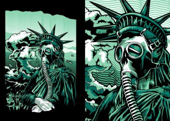 Save the liberty graphic t-shirt design