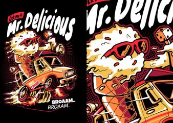 Mr Delicious vector t-shirt design