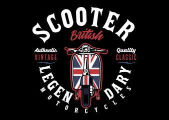 Scooter british t shirt design png