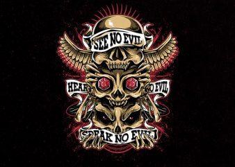 skulls totem Graphic t-shirt design