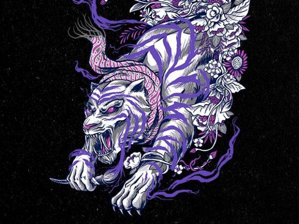 ajian macan putih tshirt design