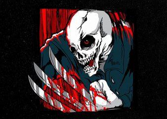 third claws Vector t-shirt design