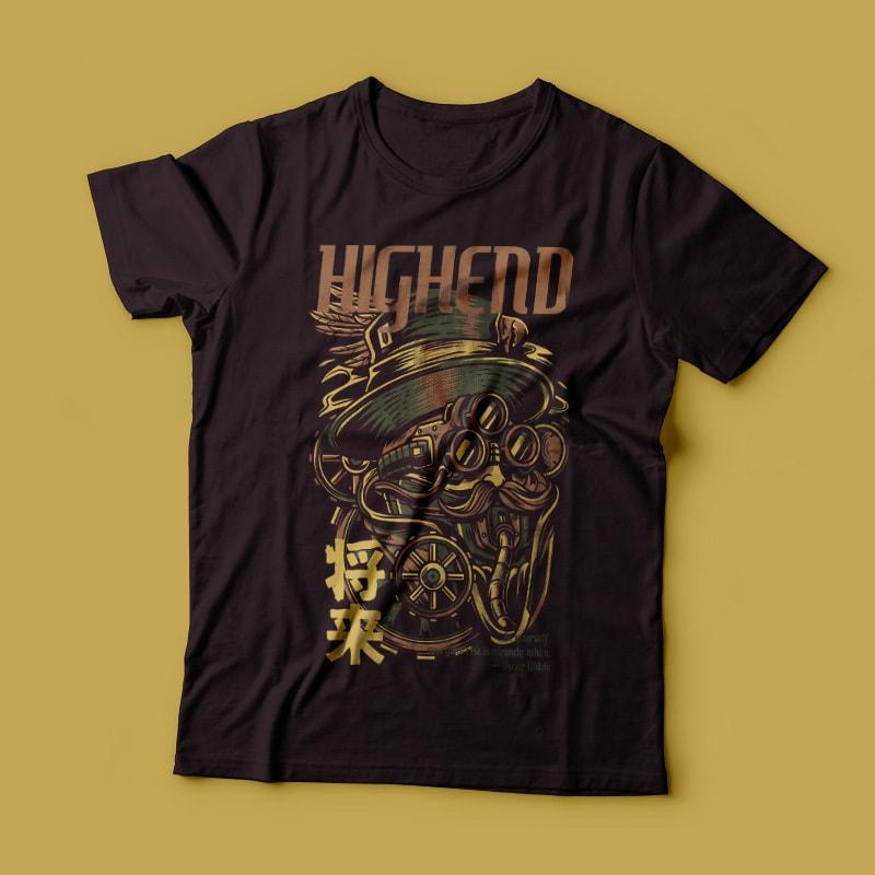 Highend Vector T-shirt Design commercial use t shirt designs