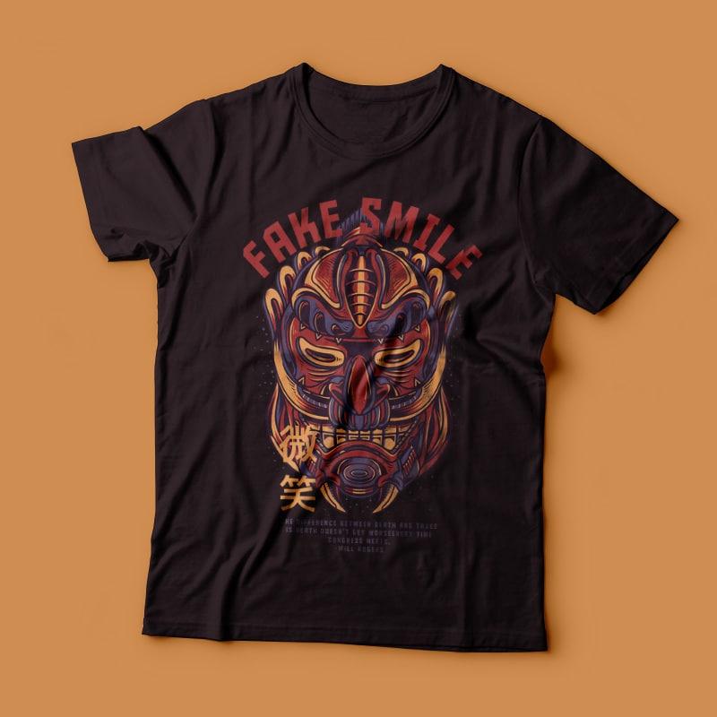 Fake Smile T-Shirt Design tshirt design for merch by amazon