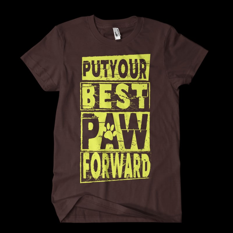 put your best paw tshirt design for merch by amazon
