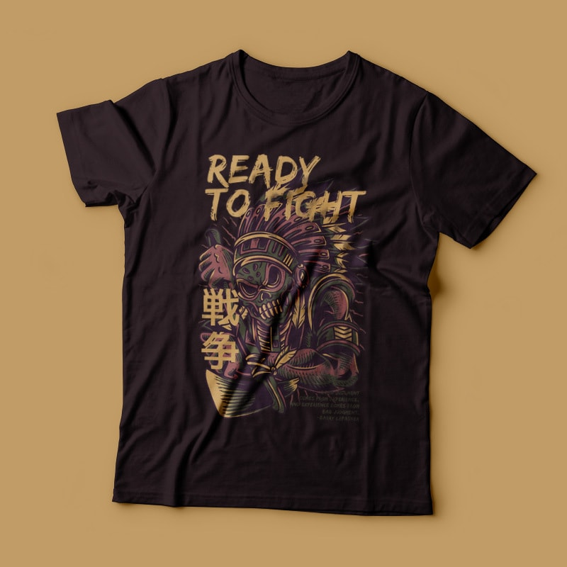 Ready to Fight T-Shirt Design t shirt designs for printful