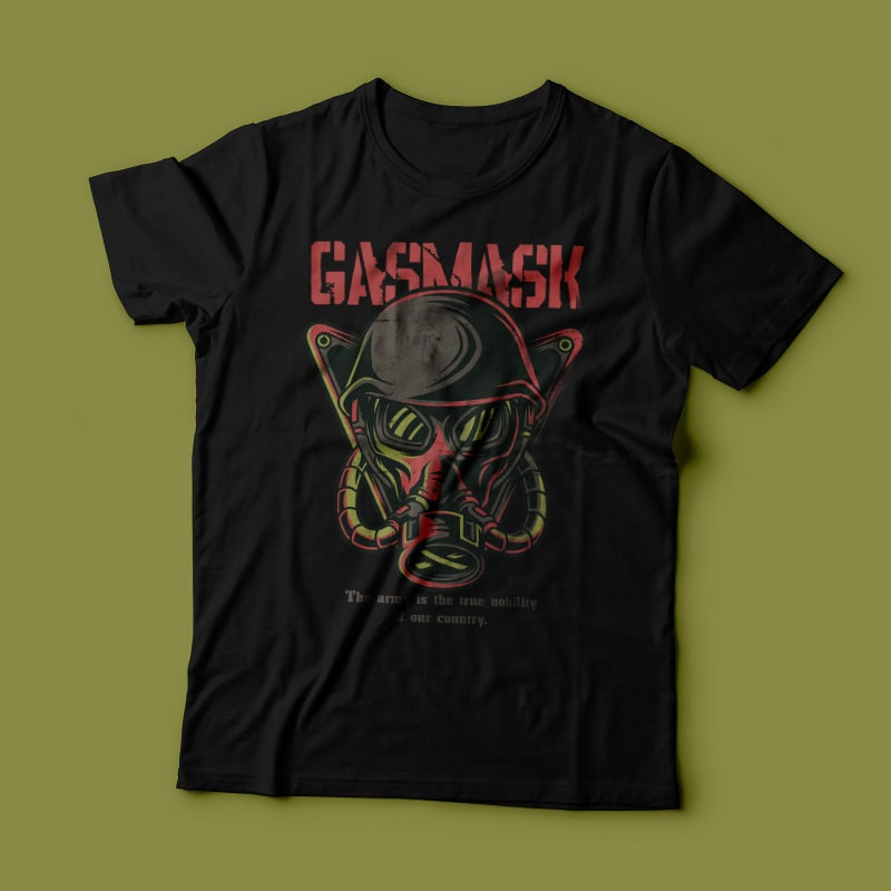 Gas Mask T-Shirt Design vector t shirt design