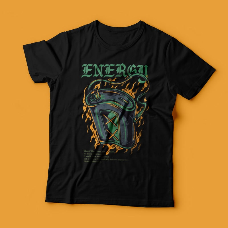 Energy Recharge T-Shirt Design tshirt designs for merch by amazon