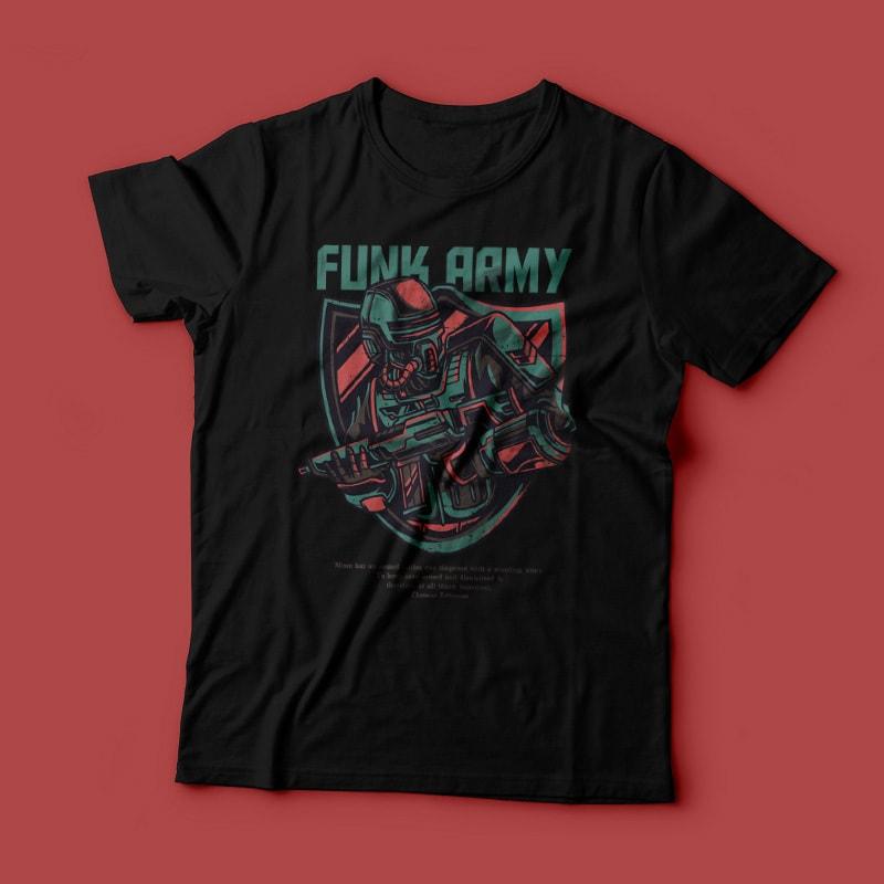 Funk Army T-Shirt Design t shirt designs for teespring