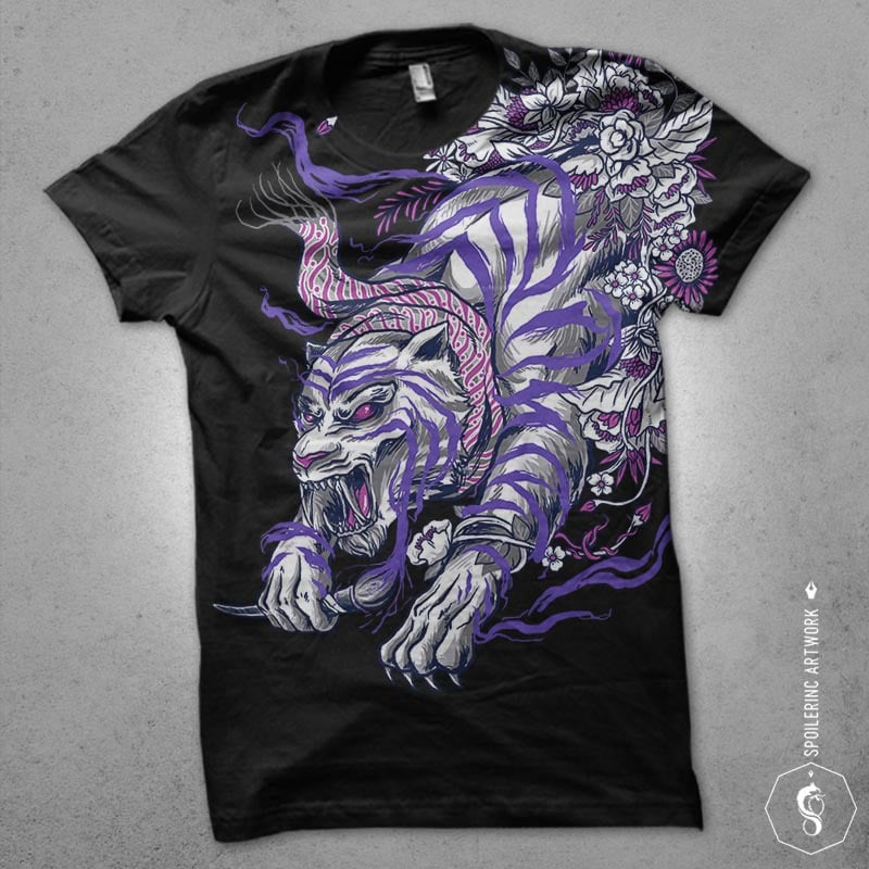 ajian macan putih tshirt design vector shirt designs