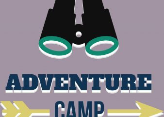 Adventure Camp Hiking t shirt vector