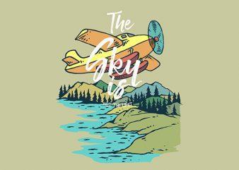 Alaska Graphic t-shirt design