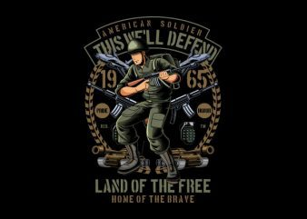 American Soldier shirt design