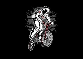 Astronaut Bike Graphic t-shirt design