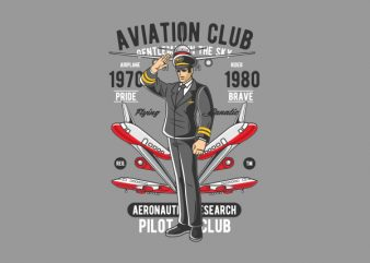 Aviation Club Graphic t-shirt design